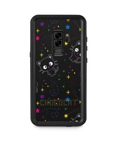 Chococat Black Repeat Pattern Galaxy S9 Plus Waterproof Case