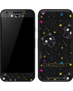 Chococat Black Repeat Pattern Google Pixel Skin