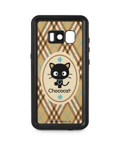Chococat Brown and Blue Plaid Galaxy S8 Plus Waterproof Case