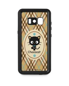 Chococat Brown and Blue Plaid Galaxy S8 Waterproof Case