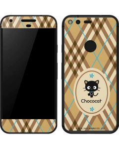 Chococat Brown and Blue Plaid Google Pixel Skin
