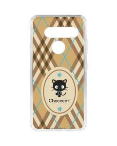 Chococat Brown and Blue Plaid LG V40 ThinQ Clear Case