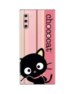 Chococat Pink and Brown Stripes Galaxy Note 10 Skin