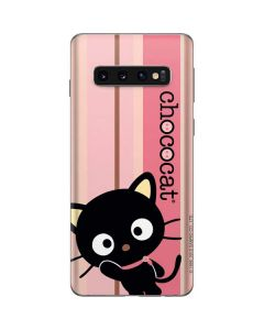 Chococat Pink and Brown Stripes Galaxy S10 Skin