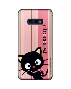 Chococat Pink and Brown Stripes Galaxy S10e Skin
