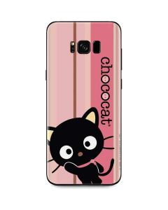 Chococat Pink and Brown Stripes Galaxy S8 Plus Skin