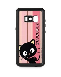 Chococat Pink and Brown Stripes Galaxy S8 Plus Waterproof Case