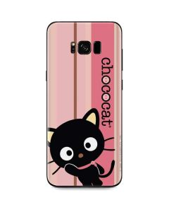 Chococat Pink and Brown Stripes Galaxy S8 Skin