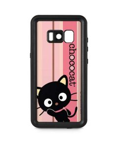 Chococat Pink and Brown Stripes Galaxy S8 Waterproof Case