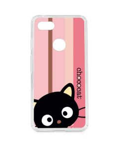 Chococat Pink and Brown Stripes Google Pixel 3 XL Clear Case