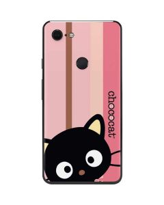 Chococat Pink and Brown Stripes Google Pixel 3 XL Skin