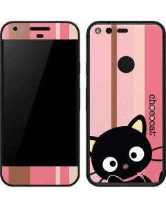 Chococat Pink and Brown Stripes Google Pixel Skin
