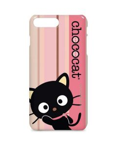 Chococat Pink and Brown Stripes iPhone 8 Plus Lite Case