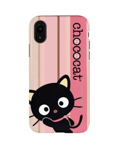 Chococat Pink and Brown Stripes iPhone XR Pro Case