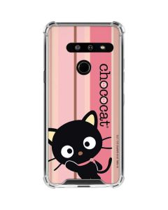 Chococat Pink and Brown Stripes LG G8 ThinQ Clear Case