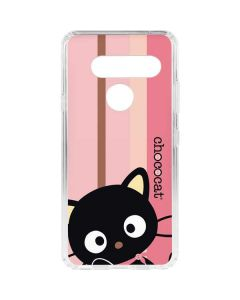 Chococat Pink and Brown Stripes LG V40 ThinQ Clear Case