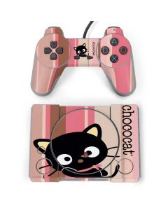 Chococat Pink and Brown Stripes PlayStation Classic Bundle Skin