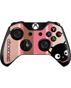 Chococat Pink and Brown Stripes Xbox One Controller Skin