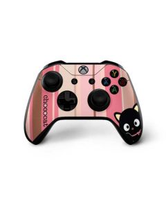 Chococat Pink and Brown Stripes Xbox One X Controller Skin