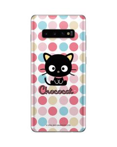 Chococat Pink Circles Galaxy S10 Plus Skin