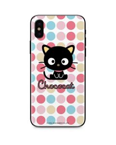 Chococat Pink Circles iPhone XS Max Skin