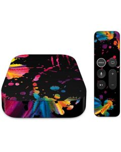 Chromatic Splatter Black Apple TV Skin
