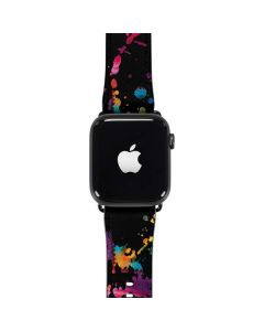 Chromatic Splatter Black Apple Watch Band 42-44mm