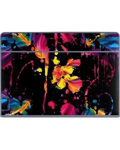 Chromatic Splatter Black Galaxy Book Keyboard Folio 12in Skin