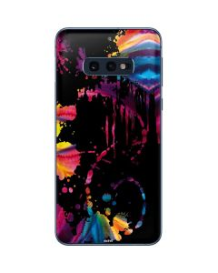 Chromatic Splatter Black Galaxy S10e Skin