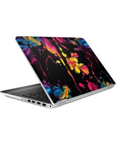 Chromatic Splatter Black HP Pavilion Skin