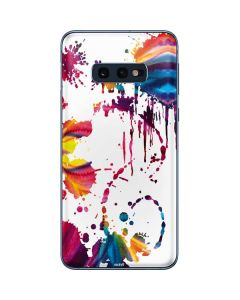 Chromatic Splatter White Galaxy S10e Skin