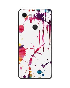 Chromatic Splatter White Google Pixel 3 XL Skin