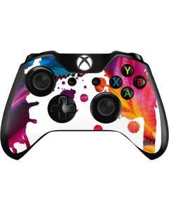 Chromatic Splatter White Xbox One Controller Skin