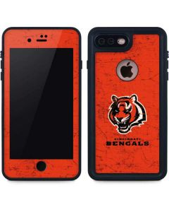 Cincinnati Bengals - Alternate Distressed iPhone 8 Plus Waterproof Case