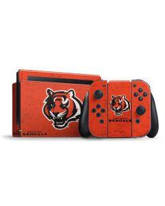 Cincinnati Bengals - Alternate Distressed Nintendo Switch Bundle Skin