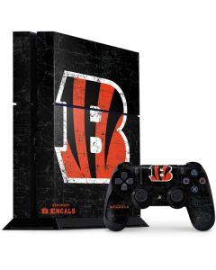 Cincinnati Bengals - Distressed PS4 Console and Controller Bundle Skin