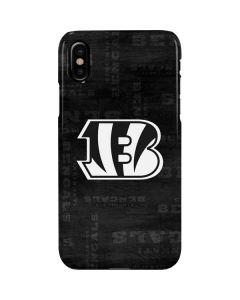 Cincinnati Bengals Black & White iPhone XS Max Lite Case