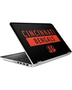 Cincinnati Bengals Black Performance Series HP Pavilion Skin
