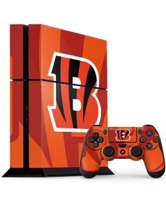 Cincinnati Bengals Double Vision PS4 Console and Controller Bundle Skin