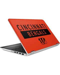 Cincinnati Bengals Orange Performance Series HP Pavilion Skin