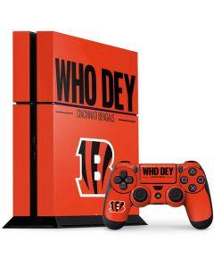 Cincinnati Bengals Team Motto PS4 Console and Controller Bundle Skin