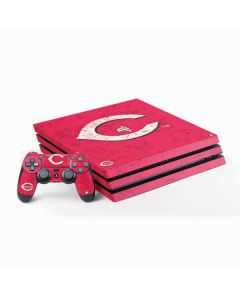 Cincinnati Reds - Solid Distressed PS4 Pro Bundle Skin