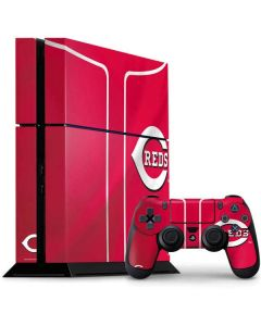 Cincinnati Reds Alternate/Away Jersey PS4 Console and Controller Bundle Skin