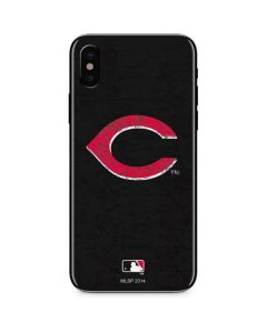 Cincinnati Reds- Alternate Solid Distressed iPhone X Skin
