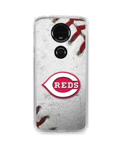 Cincinnati Reds Game Ball Moto E5 Plus Clear Case