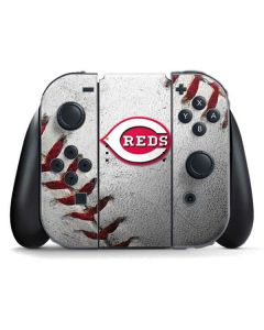 Cincinnati Reds Game Ball Nintendo Switch Joy Con Controller Skin
