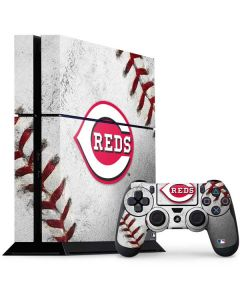 Cincinnati Reds Game Ball PS4 Console and Controller Bundle Skin