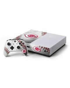 Cincinnati Reds Game Ball Xbox One S Console and Controller Bundle Skin