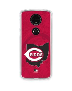 Cincinnati Reds Home Turf Moto E5 Plus Clear Case