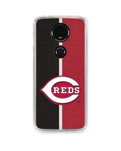 Cincinnati Reds Split Moto E5 Plus Clear Case
